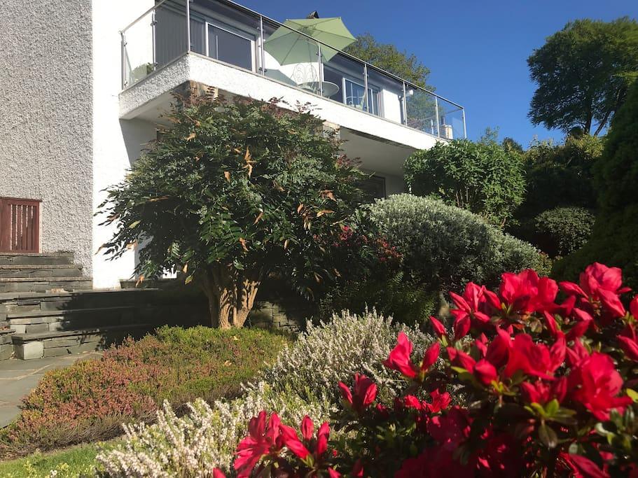 Lingmell rear gardens