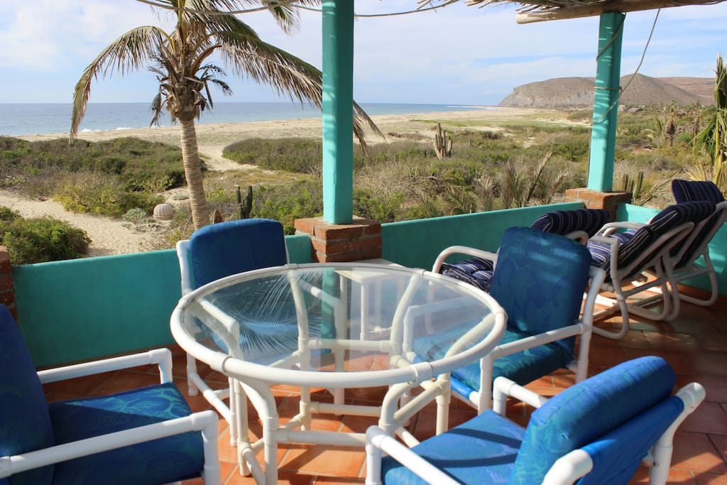Terraza to watch the whales go by.