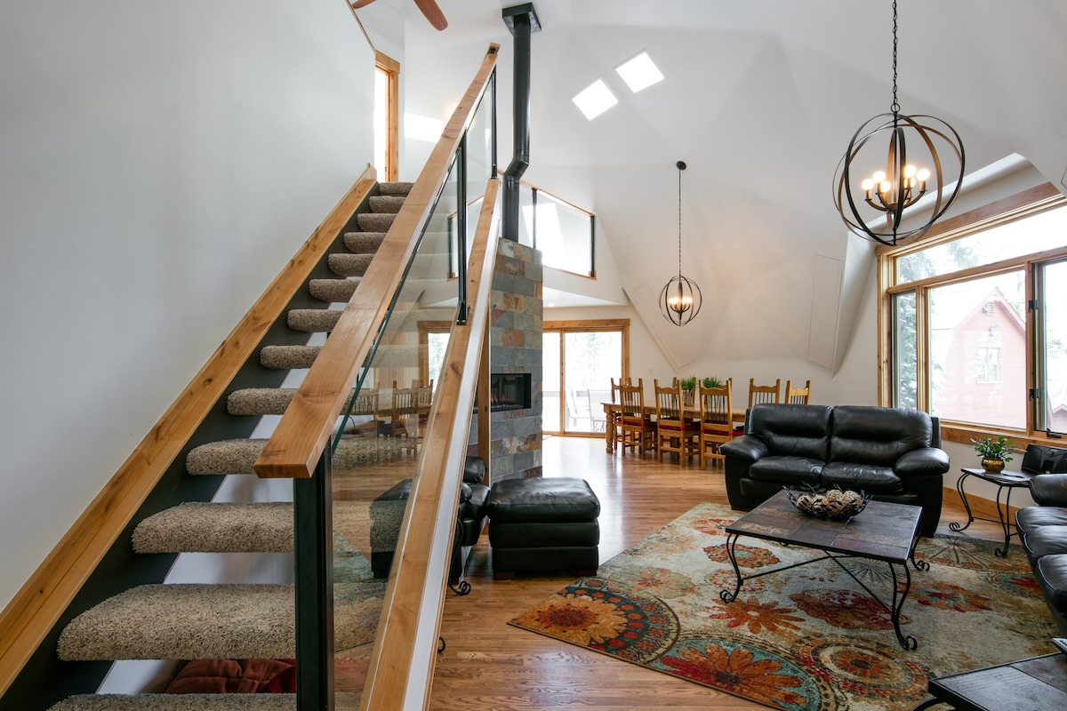 Entry Into Main Level. Stairs Go Up To The Loft.