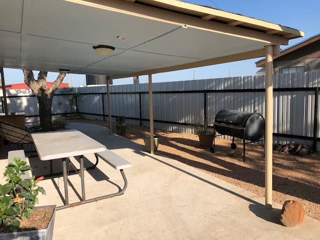 Covered Patio & BBQ pit