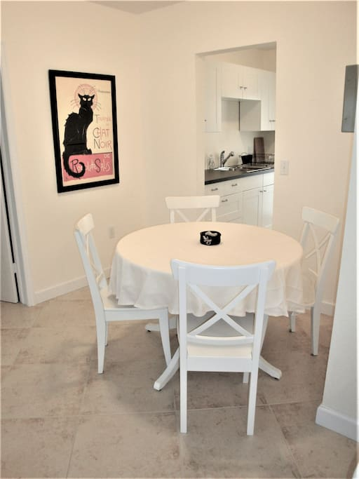 Dining area is conveniently located just off the kitchen.
