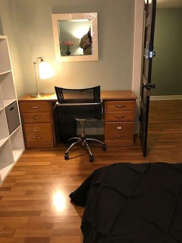 Medium bedroom 2 desk and work space