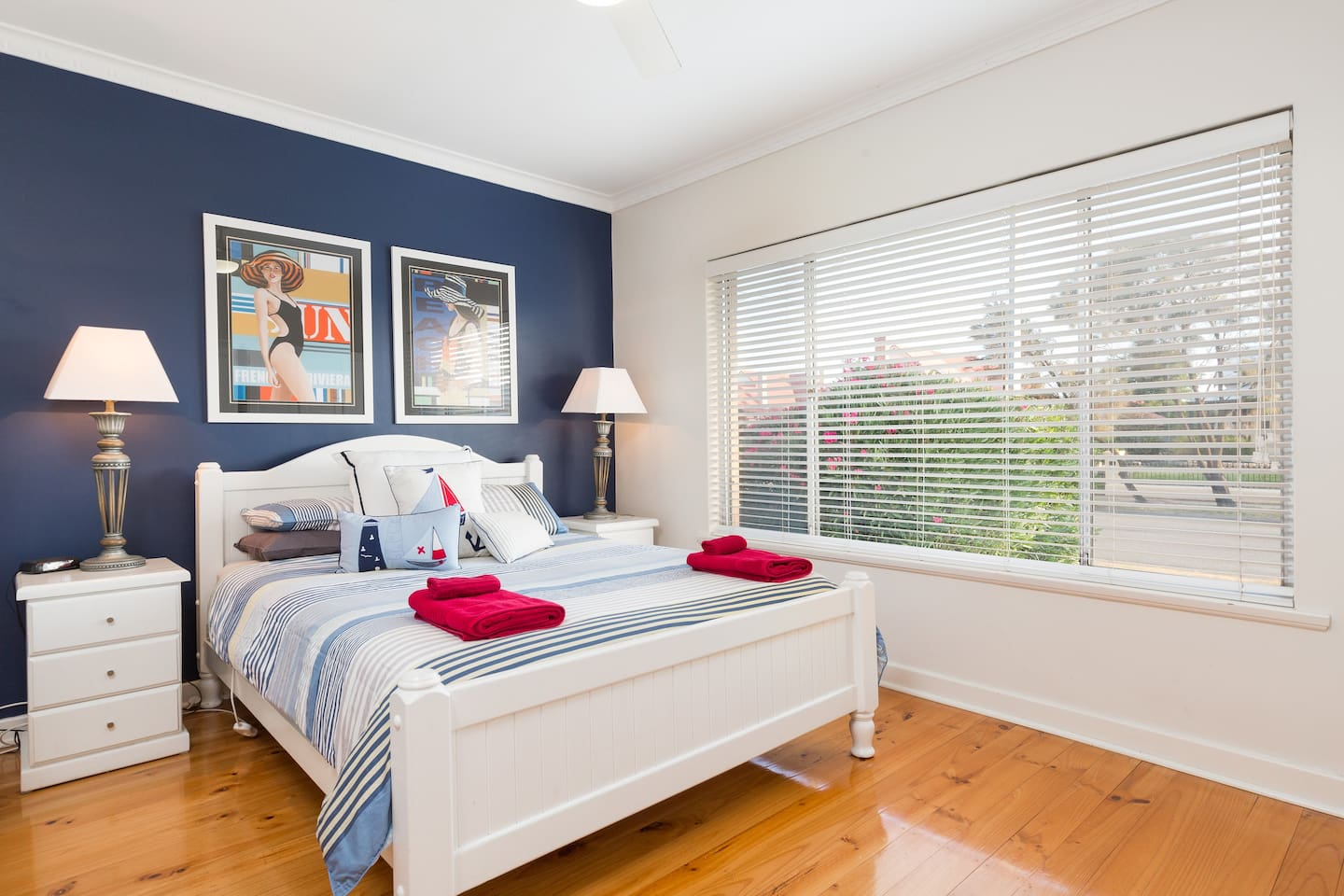 Light Filled Master Bedroom with Queen Size Bed