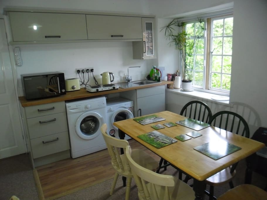 The dedicated kitchen for self catering or a continental breakfast pack