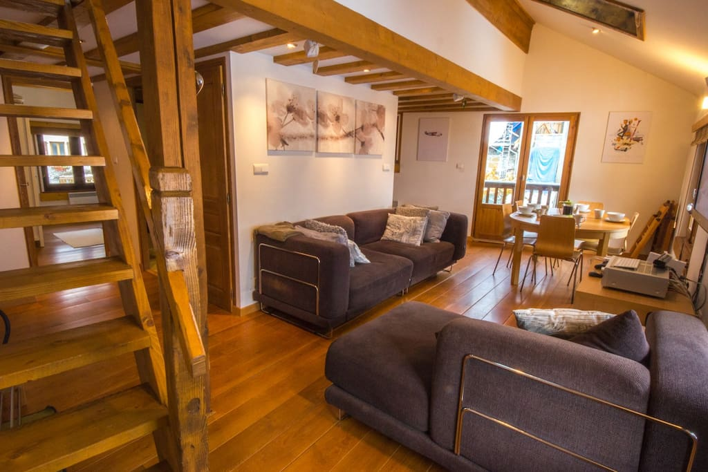 Rent Argentiere Chamonix Apartment | Duplex living