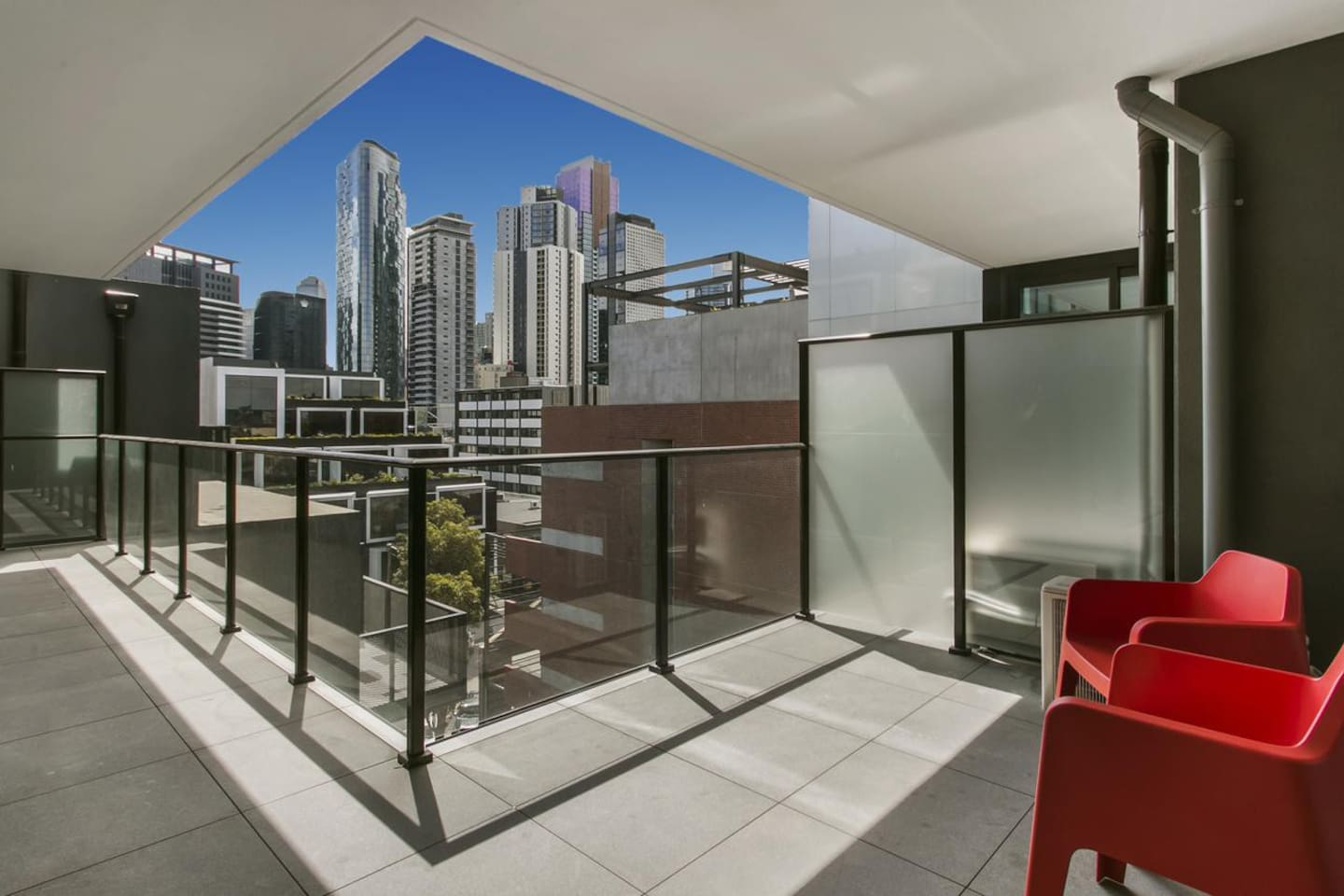 Private Balcony with City Views
