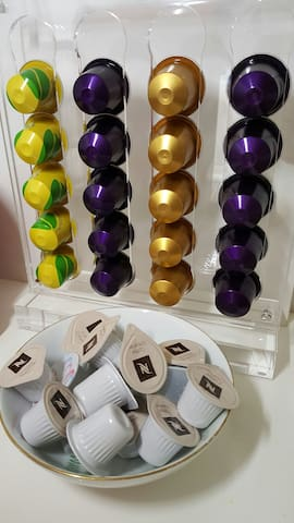 Nespresso selection, we offer our preferred capsules, feel free to request whichever capsules you want when you make your reservation