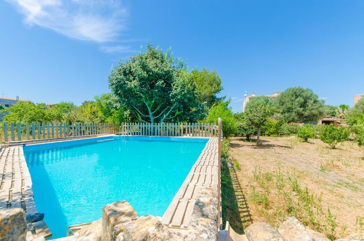 HORT DE CAN BOU - Villa with private pool in PORRERES. Free WiFi