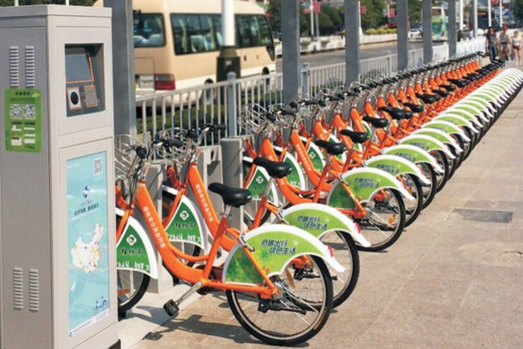 best way to explore this small and peaceful city,see beautiful Guilin  like a local.city bike system station 300meters away from home.