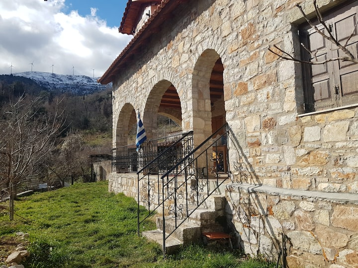 Stone Mountainhouse near Kalavryta, Safe in Nature
