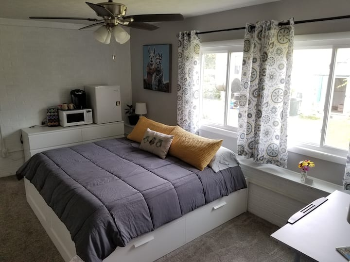 *COVID-SAFE SPACE!* Master Suite near JMU/Downtown