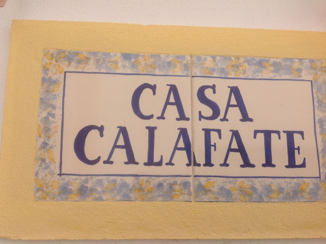 The traditional Algarve house sign...