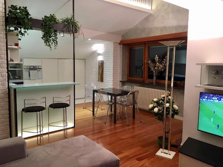 Luxury Loft 78mq, Precollina 10min from the Centre