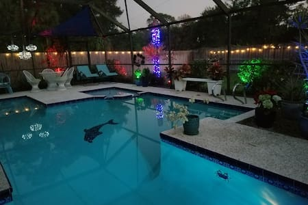"""The SANCTUARY"" Your PRIVATE HEATED POOL!!"