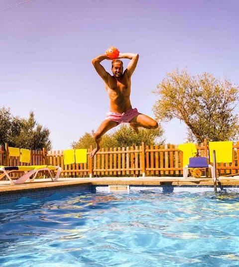 FeWo 3 auf idyllischer Finca, Pool Garten&Tiere