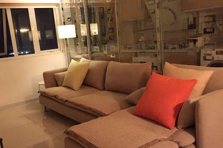上海南桥文雅整洁,配备高清网路电视和大沙发的青年复式LOFT - Shanghai - Lägenhet
