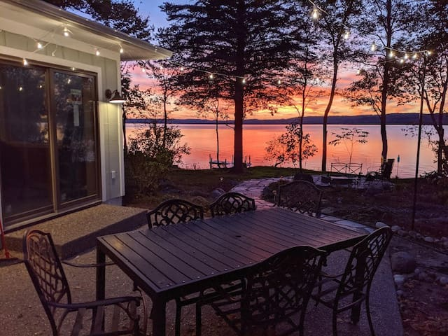 Traverse City Home w/ 100' Private Water Frontage