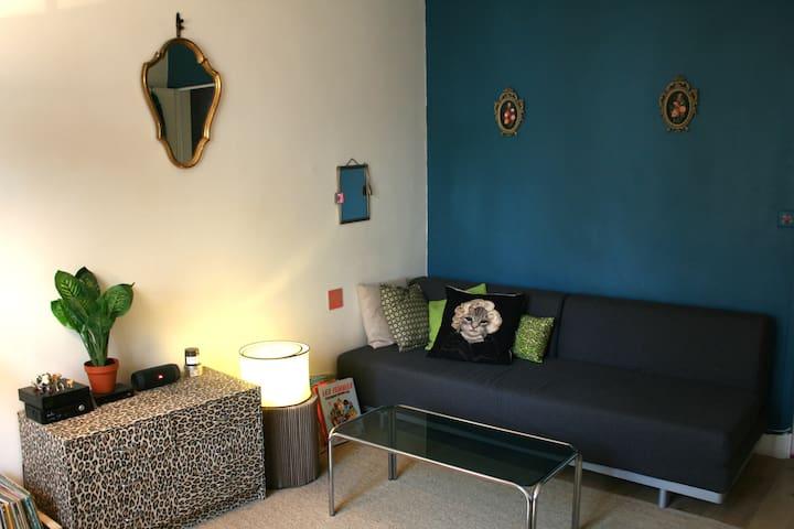 Salon cosy canapé-lit 2 places