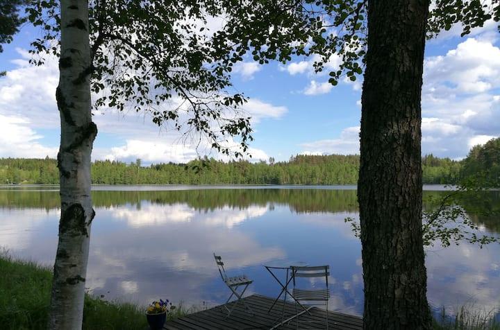 Peaceful lake cottage & sauna in Southeast Finland