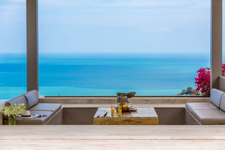 Luxury SeaView Villa Double Infinity Pool 20person