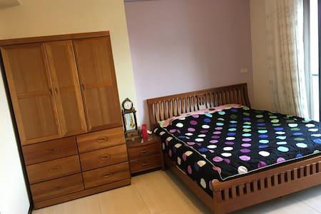 台南大好眠/租兩房折100/King size bed with great view! - 台南市 - House