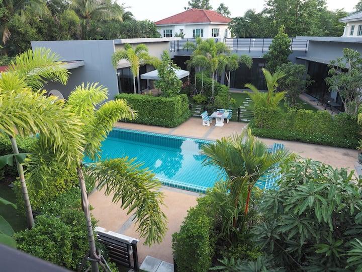 Pool 2Bedrooms Villa  5 mins Chalong pier