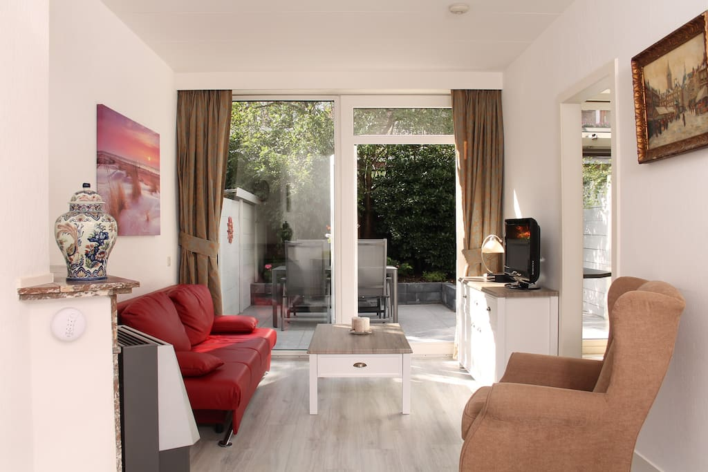 Living room with garden