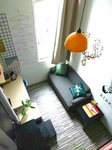【加速度青年公寓】A25广州交易会嘉禾望岗地铁站旁复式温馨公寓房 - 广州市 - Apartment