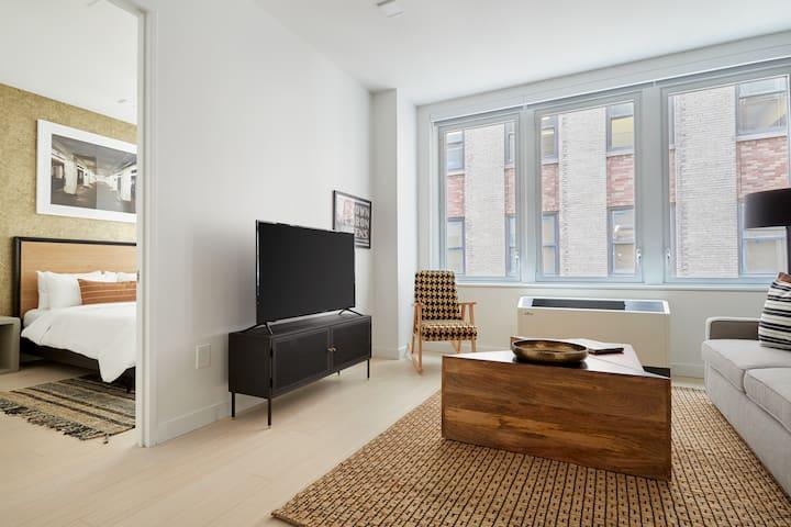 Sonder | Stock Exchange | Ideal 1BR + Sofa Bed