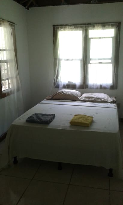 Front bedroom has double bed.