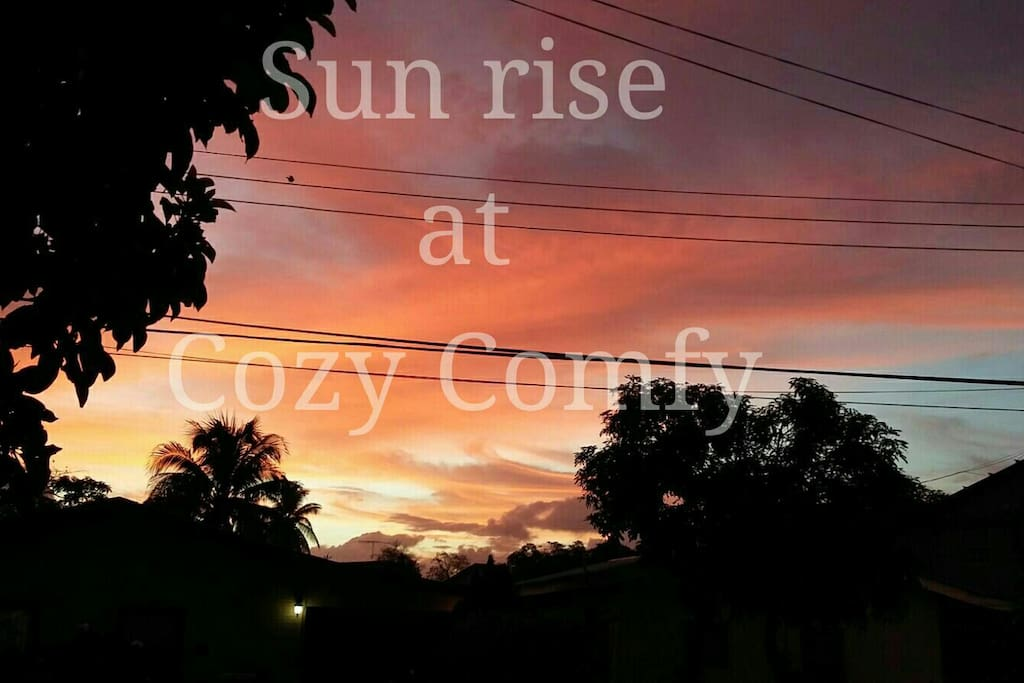 Sunrise at Cozy Comfy
