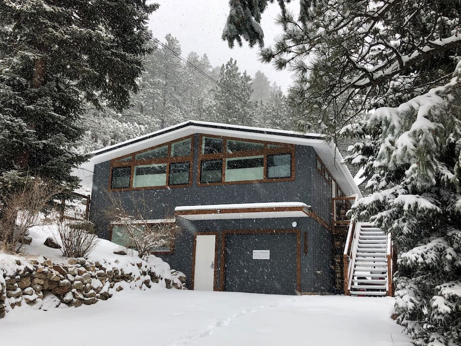 exterior of home in winter