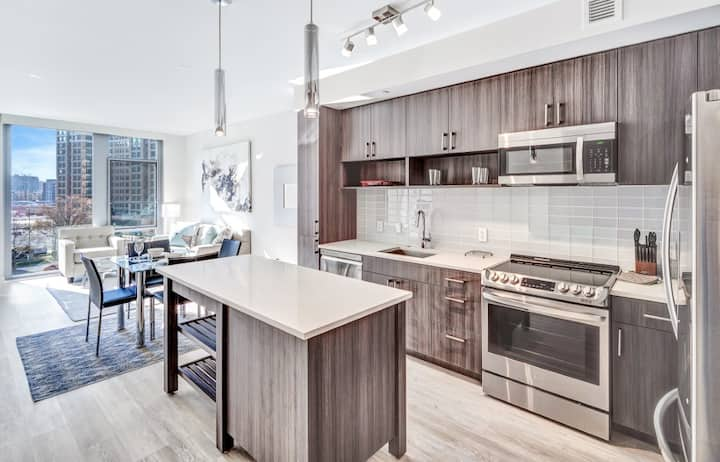 Arlington VA | Sleek 1BR | Gym+Pool | by GLS