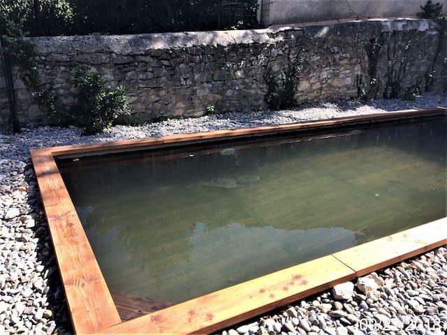 La piscine écologique commune aux 3 gîtes