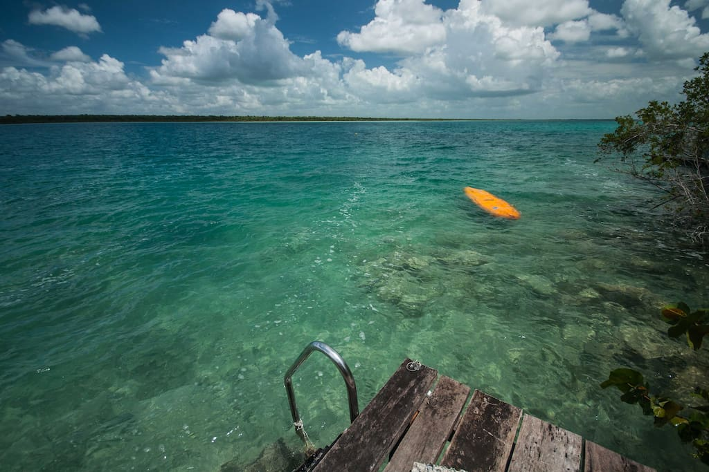 Laguna Bacalar from the dock
