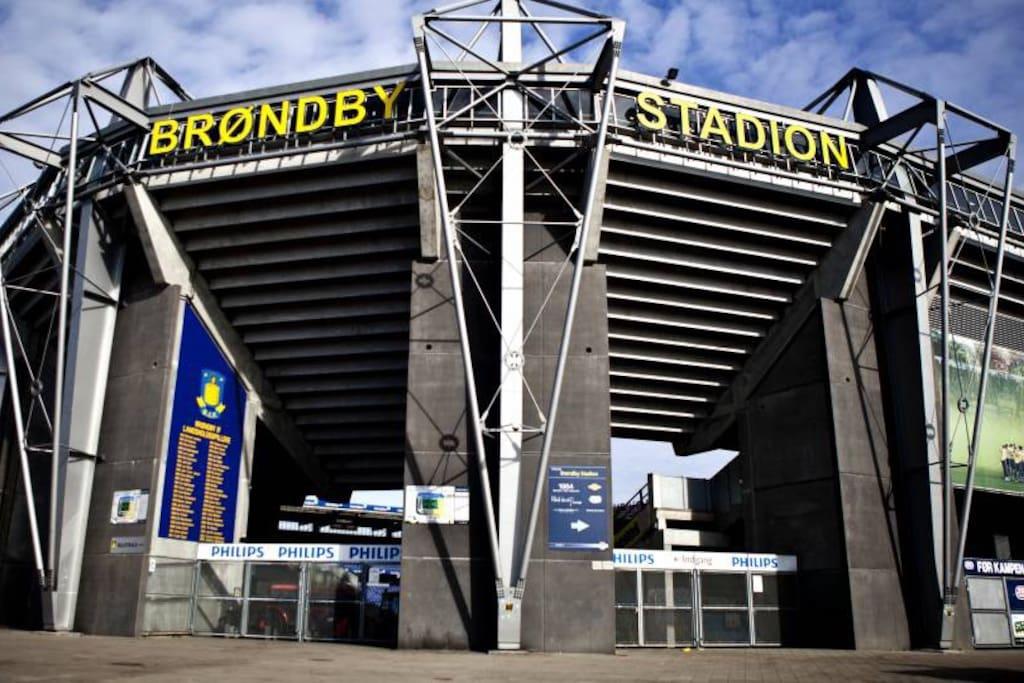 Brøndby stadion only 3 km away.