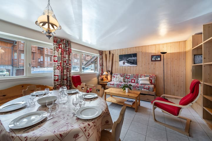 Apartment 100m from the ski pistes with children bedroom