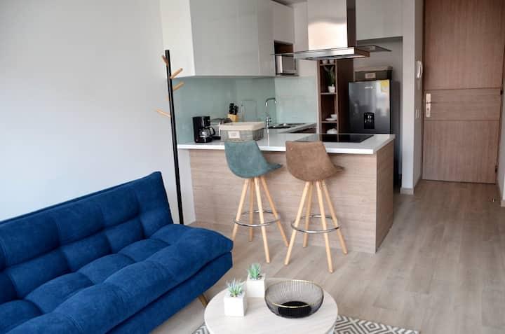 NUEVO moderno loft 1 hab con balcón 5min parque 93