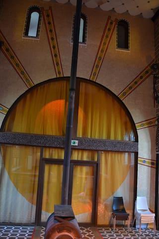 La Chapelle de verre Le soleil...