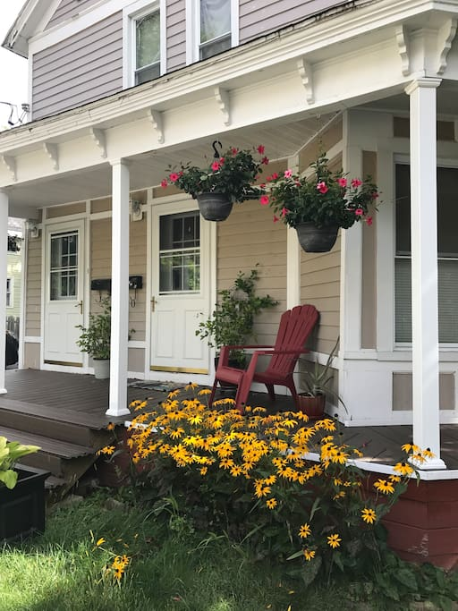 View of new porch, as of Sept 8 2017.