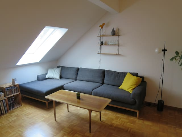 Family friendly attic appartment close to the city