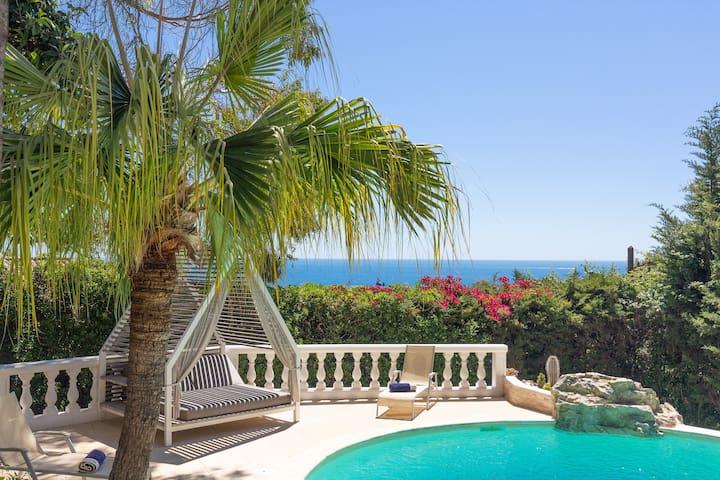 ❤️ Superb sea view Villa: Californie ❤️