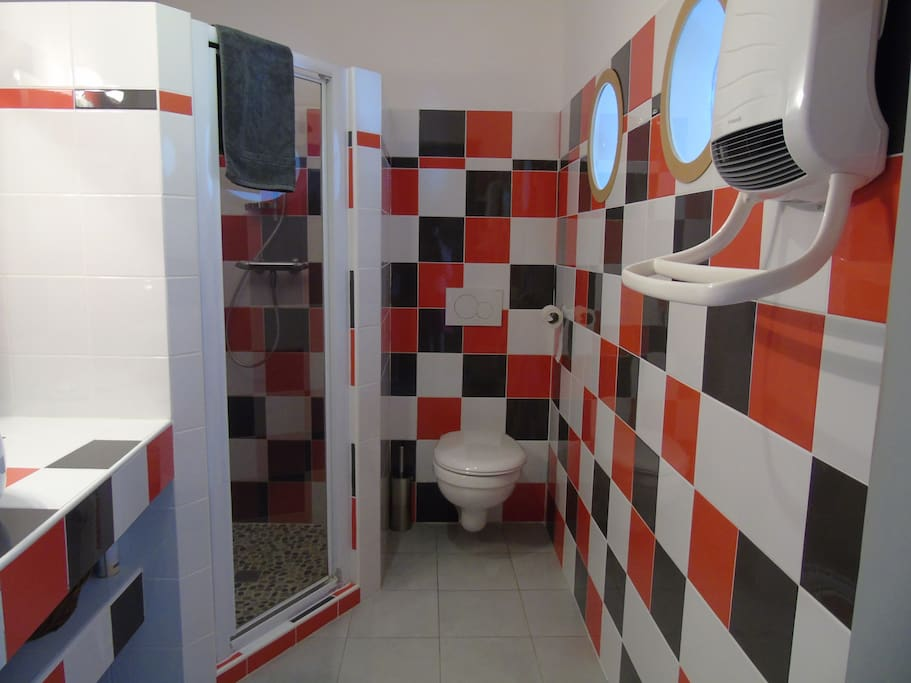 Wc et salle de bain privés