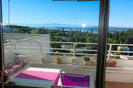 Genialer Panorama-Blick vom obersten Stock - WLAN - Überlingen