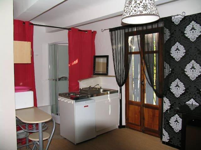 joli studio avec terrasse et vue sur la montagne - Noyers-sur-Jabron - Huoneisto