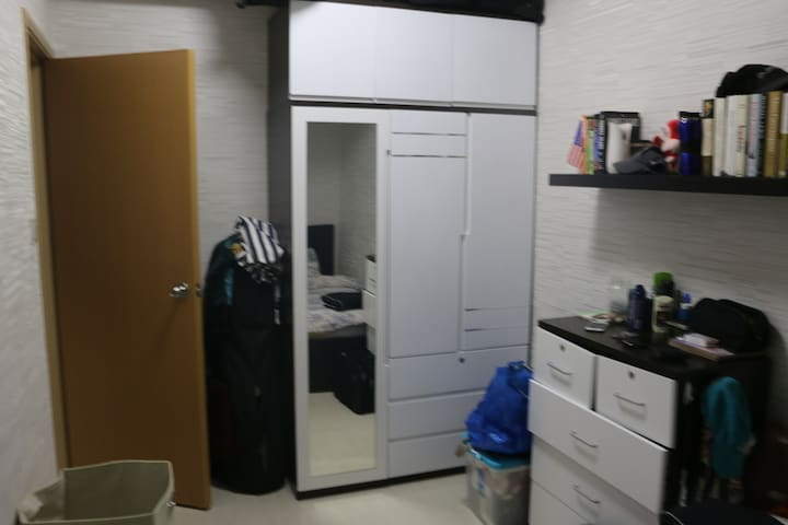 Storage space in the master bedroom