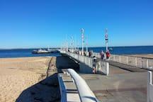 Embarcadère du Cap Ferret pour revenir sur Arcachon. 25 minutes de trajet seulement.