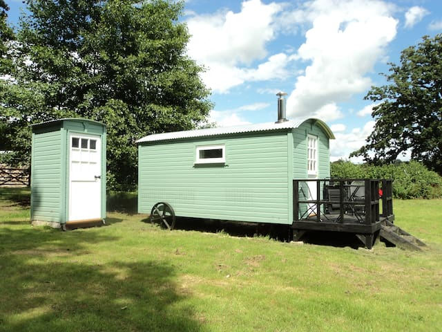 Shepherds hut near historicTitchfield Abbey