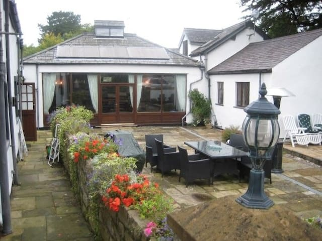 Large converted cottages, stables and