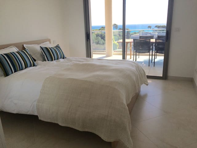 Two bedrooms with direct access to the terrace